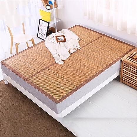LIXIONG Alfombras de Aire Acondicionado Solo Estudiante Dormitory Bamboo Mat Estera de bambú de Verano Doble