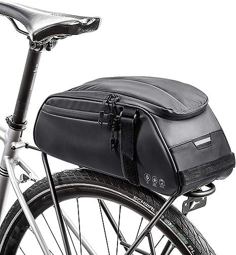 Achort Bolsa Trasera para Bicicleta Impermeable Multifuncional Alforja Trasera Bicicleta Bolsa de Hombro para Ciclismo al Aire Libre: Amazon.es: Deportes y aire libre