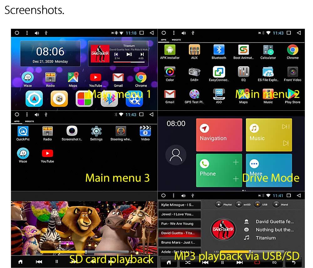 A/ño 2005-2016 tunez 7 pulgadas en el tablero Doble Din Android Coche GPS MP3 MP4 USB Sat Nav Player Pantalla t/áctil Radio Est/éreo Para Suzuki Grand Vitara 3ra generaci/ón