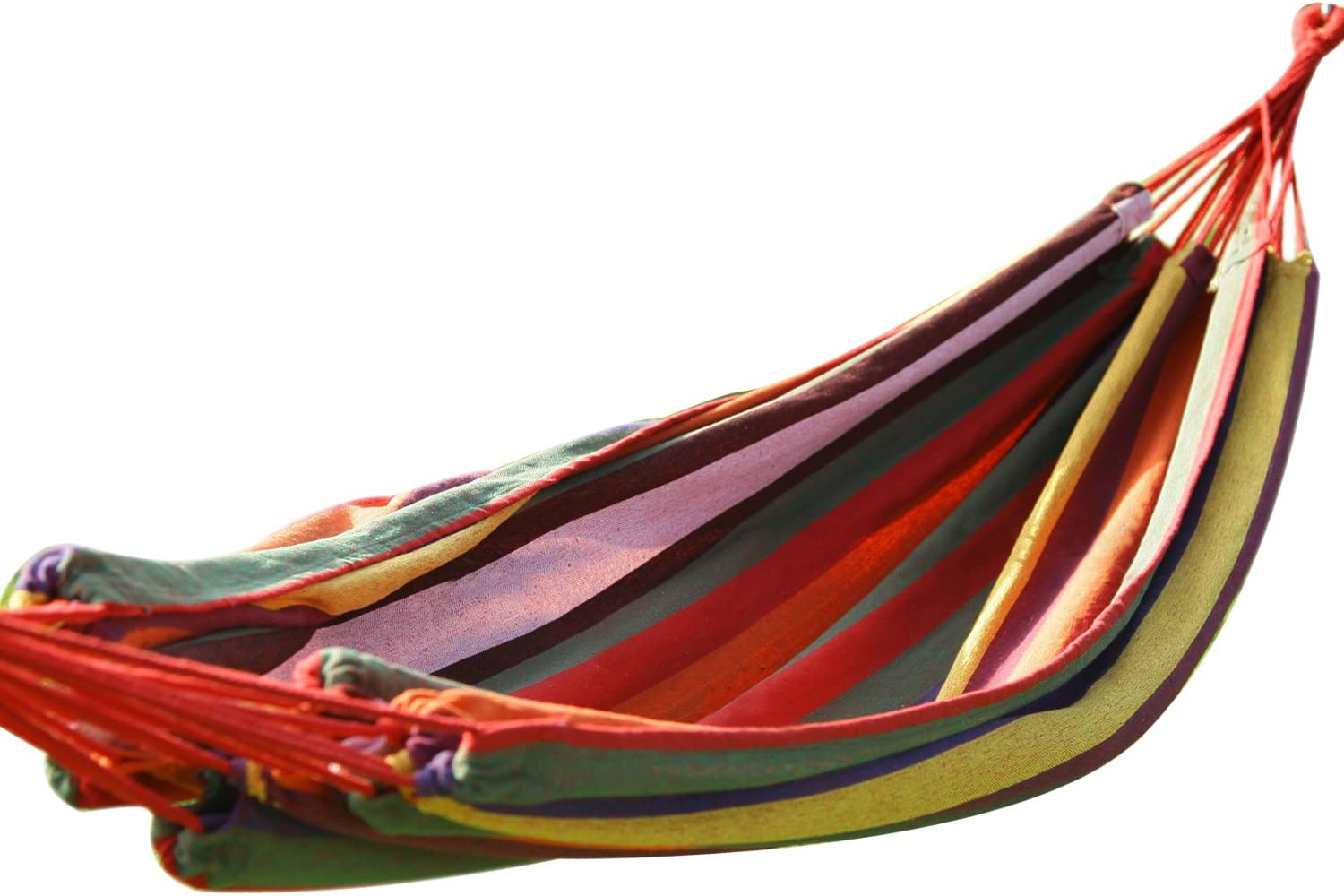 Adeco Hot Season, Hot Deal Naval-Style Cotton Fabric Canvas Hammock Tree Hanging Suspended Outdoor Indoor Bed Antigua Color, 63 Wide