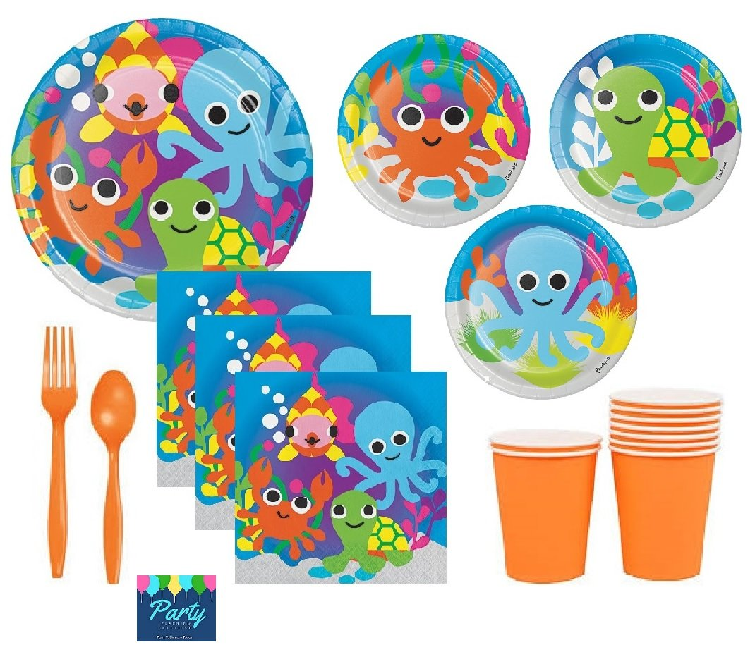 Amazon.com: FAKKOS Ocean Theme Party Supplies For Baby Shower or ...