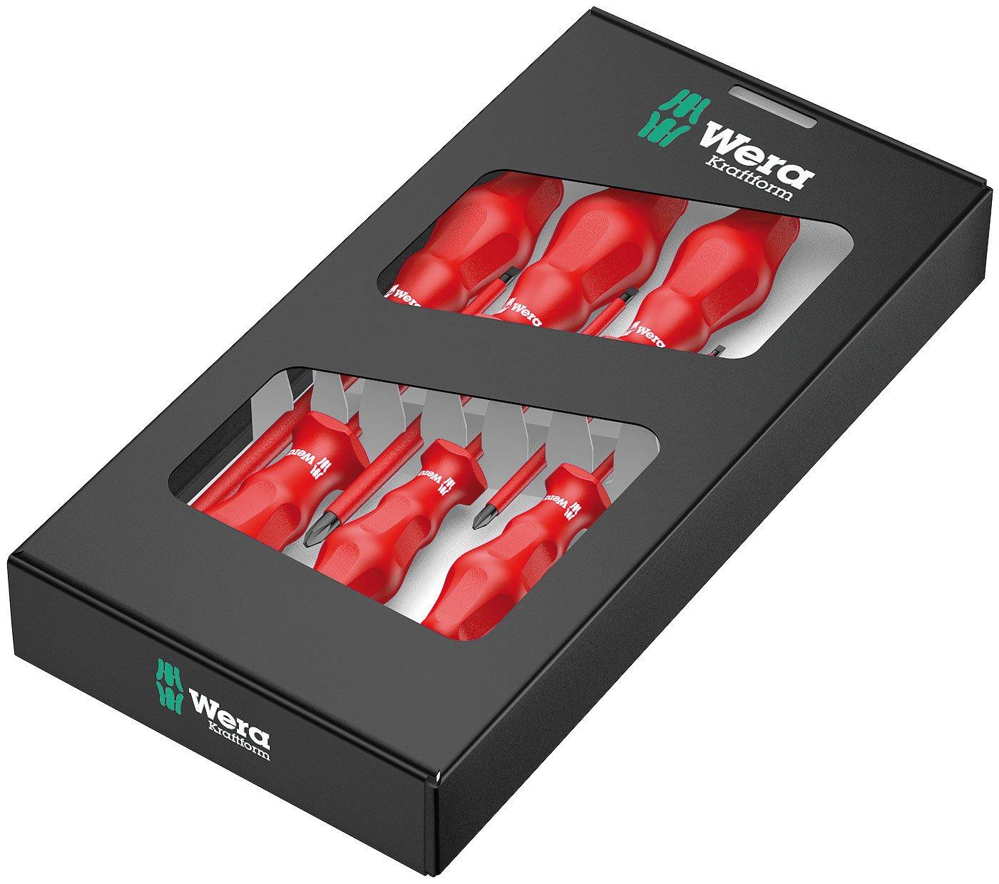 Wera Kraftform Classic VDE 1760i/6 Insulated Economical Screwdriver Set, 6-Piece Wera Tools 05031282001