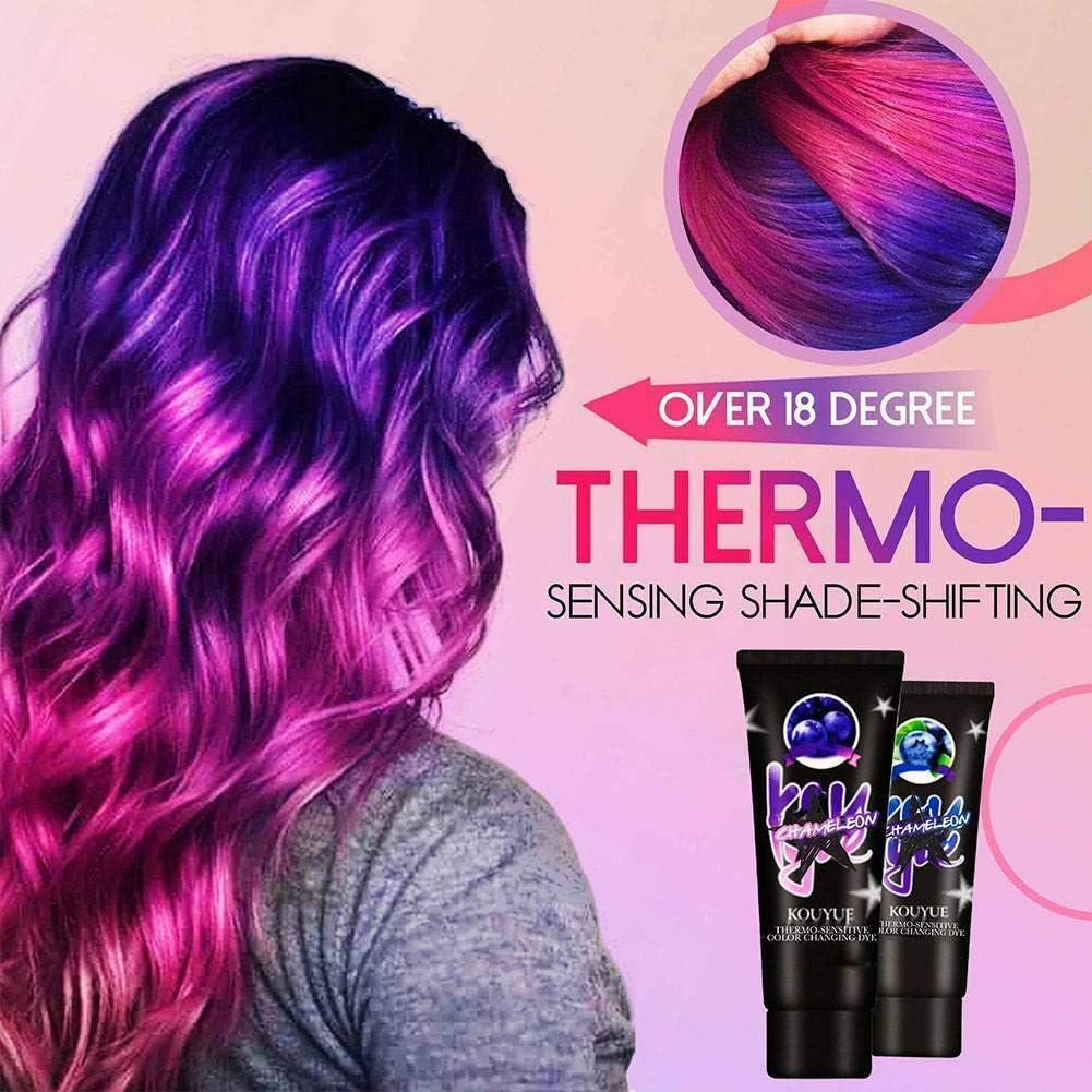Tinte temporal para el cabello que cambia de color de 60 ml ...