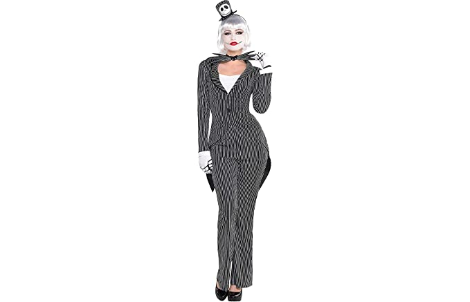 party city the nightmare before christmas jack skellington halloween costume for women medium with - Nightmare Before Christmas Halloween Costume