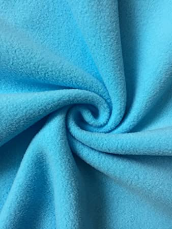BABY BLUE Polar FLEECE soft fabric material antipill 150cm wide sold by metre