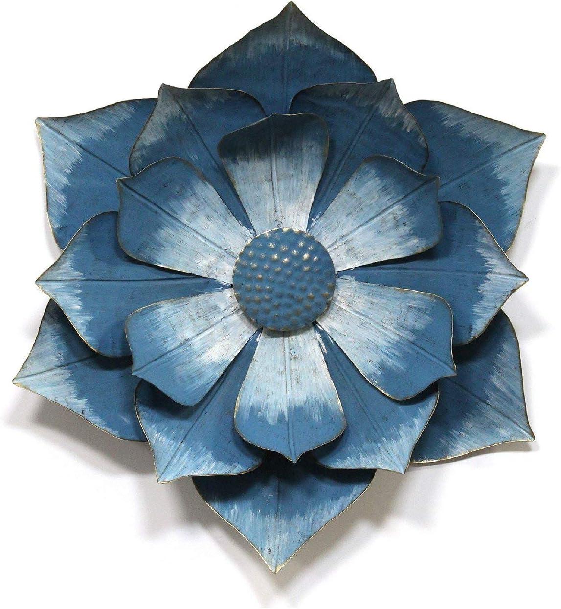 "Stratton Home Décor Stratton Home Decor Blue Ipomoea Metal Flower, 17.32"" W X 4.33"" D X 19.69"" H"