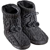 Collections Etc Women's Cable Knit Booties