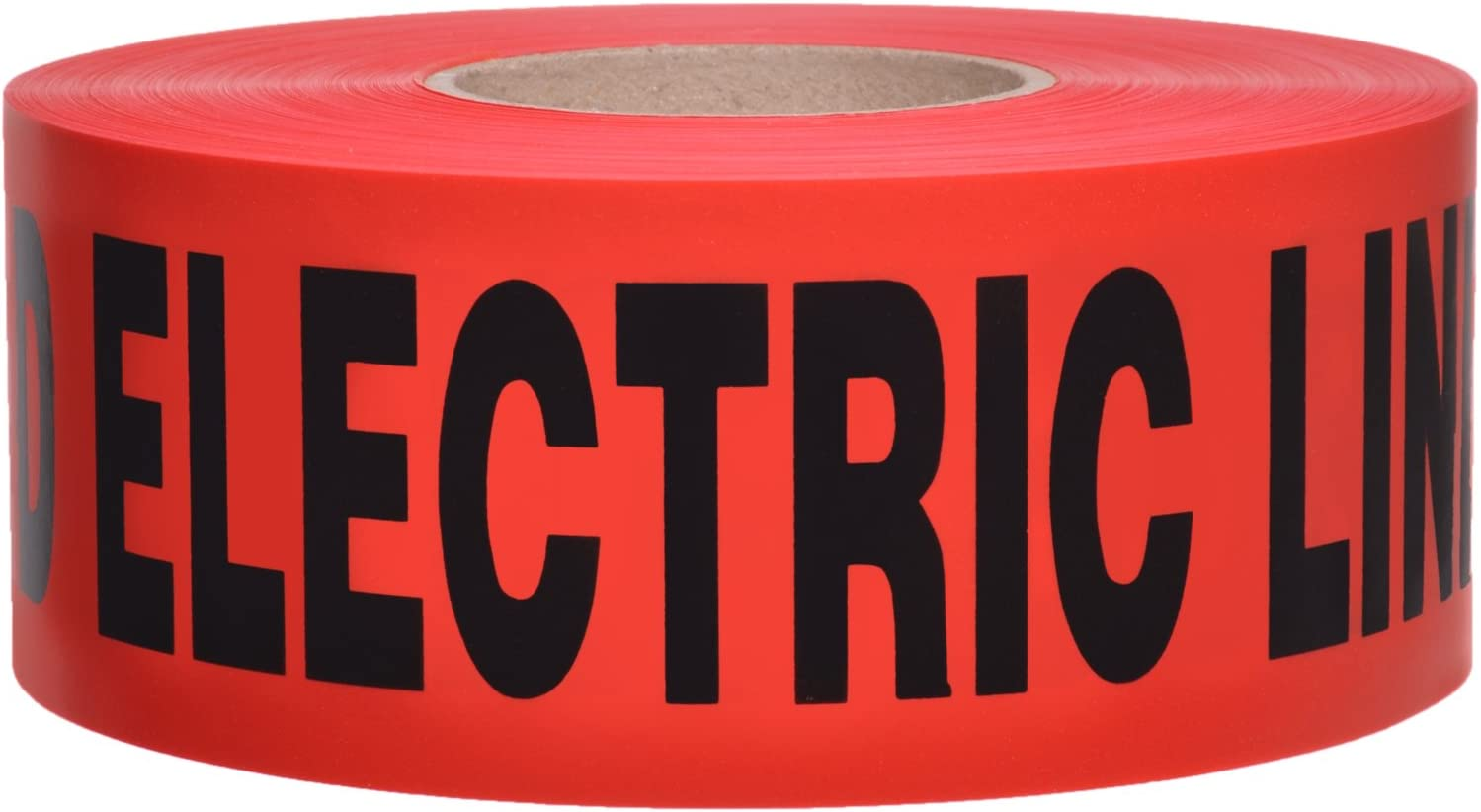 5 mil Detectable Safety Tape Caution Buried Electric Line Below Red//Black Print 3 in x 1000 Ft