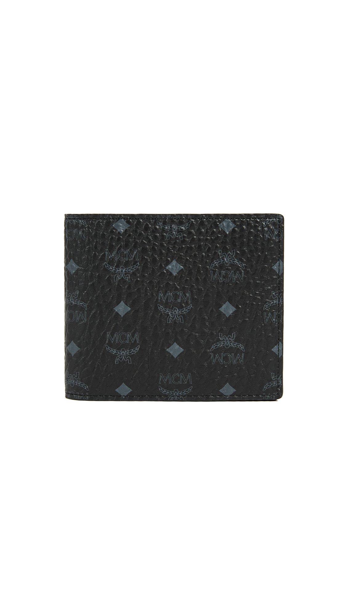 MCM Men's Visetos Bifold Wallet, Black, One Size by MCM (Image #1)