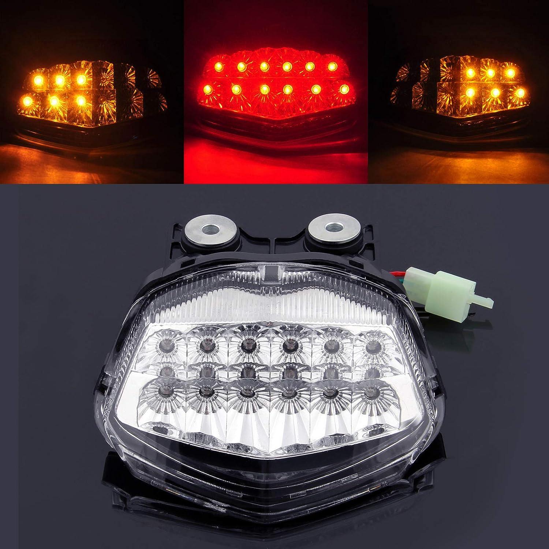Heinmo Black Brake Turn Signal Tail Light Assemblies Integrated Led Tail Light for Kawasaki 2008-2012 Ninja 250 Rider LED Tail Light lamp Talilight