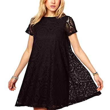 Nonbrand Womens Lace Dress Summer Party Prom Vintage Ladies Crochet Dresses