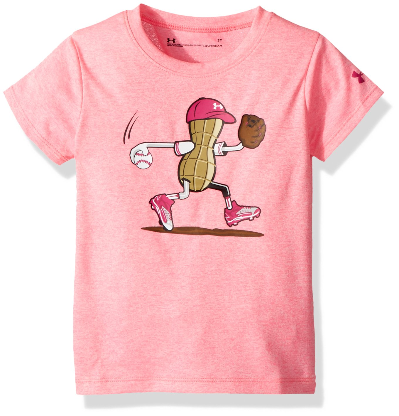 Under Armour Girls Softball Peanut Short Sleeve T-Shirt