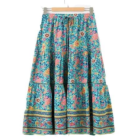 Zxllyntop-Dresses Falda Casual para Mujer Falda Bohemia de Las ...