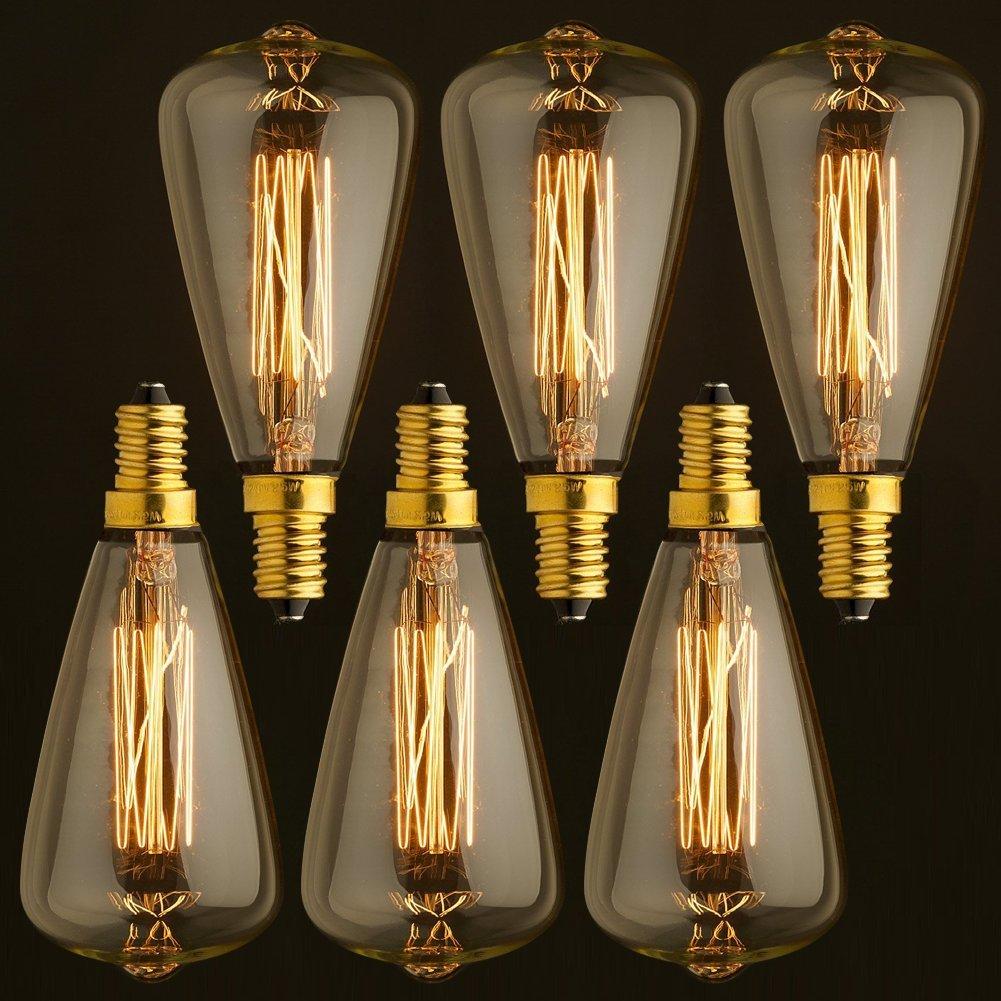 T45 4W Tall Edison Light Bulb Vintage Industrial Retro Edision LED Lamp Antique LED Filament B22