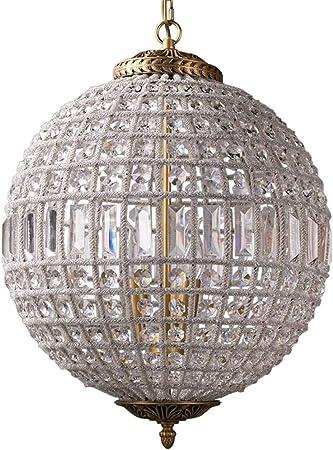 Lampadari Classici Per Camera Da Letto.Retro Lampadario Di Cristallo Sferico Camera Da Letto Lampadari Di