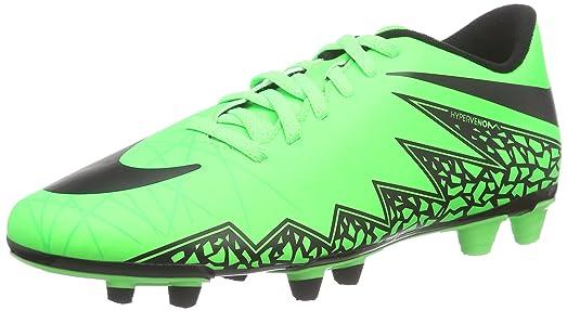 Nike Men's Hypervenom Phade II Fg Green Strike/Black/Black Soccer Cleat 10  Men