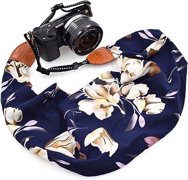 Style 50 LIFEMATE Scarf Camera Strap,DSLR Camera Strap Universal Neck Strap,Fabric of Bohemia Floral Scarf Camera Strap