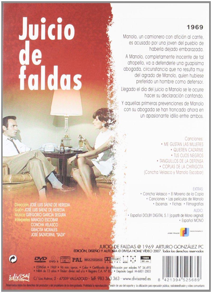 Juicio De Faldas [DVD]: Amazon.es: Manolo Escobar, Concha Velasco, José Sazatornil, Gracita Morales, José Luis Sáenz De Heredia, Arturo González: Cine y ...