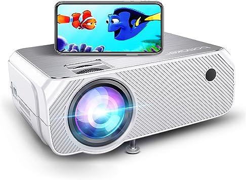 Bomaker - Proyector wifi, espejo de pantalla inalámbrico y proyector de TV de pantalla fundida, proyector HD
