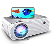 BOMAKER LCD WiFi Projector, Upgraded 4500 Lux, Portable HDMI Projector, Full HD 1080P Supported, Wireless Screen…