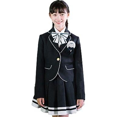 644f6495c1892 卒業式 小学生 女の子 スーツ 5点セット ゆったりサイズ 子供服 小学校 女の子スーツ 女児
