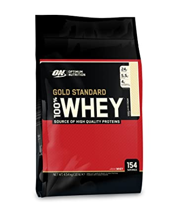 Optimum Nutrition Vanilla-Flavored Gold Standard 100 Whey, 10 Pounds