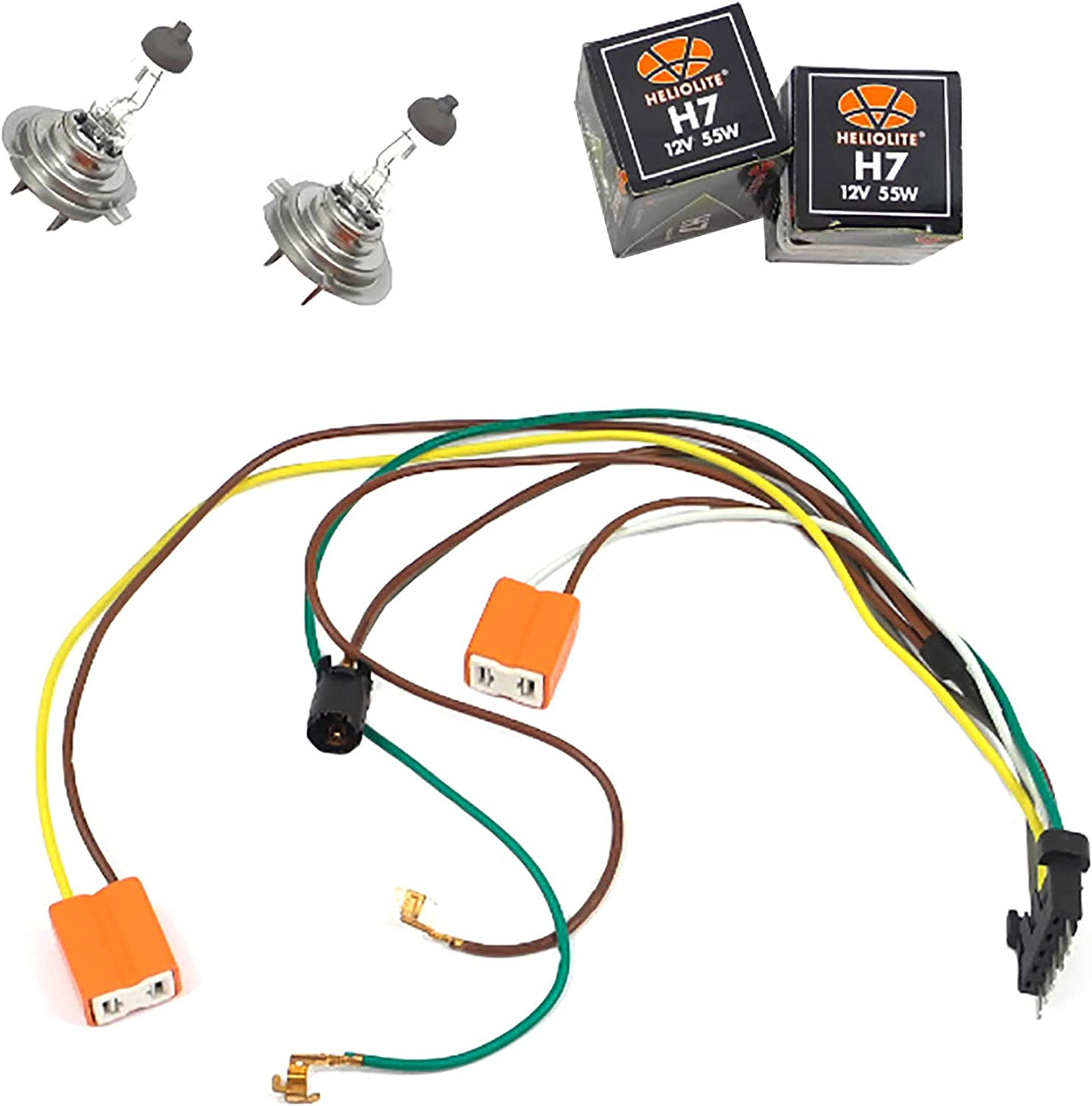 benz c32 engine wiring harness amazon com left or right headlight wiring harness and h7 55w  left or right headlight wiring harness