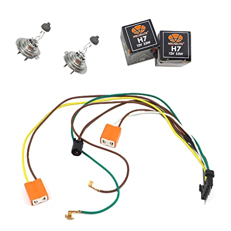 Strange Amazon Com Left Or Right Headlight Wiring Harness And H7 55W Wiring 101 Orsalhahutechinfo