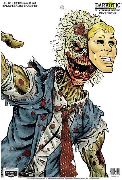 "Birchwood Casey 8 Darkotic 12/""x18/"" Zombie Splatter Targets"