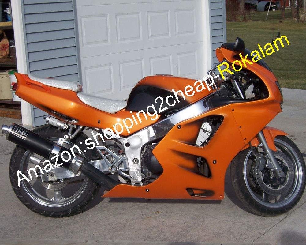 Amazon com abs complete fairing kit for kawasaki zx6r 94 95 96 97 zx 6r 1994 1997 zx 6r 94 97 orange black motorcycle fairings set automotive
