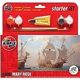 Airfix - Kit pequeño con pinturas, barco Mary Rose (Hornby A55114)