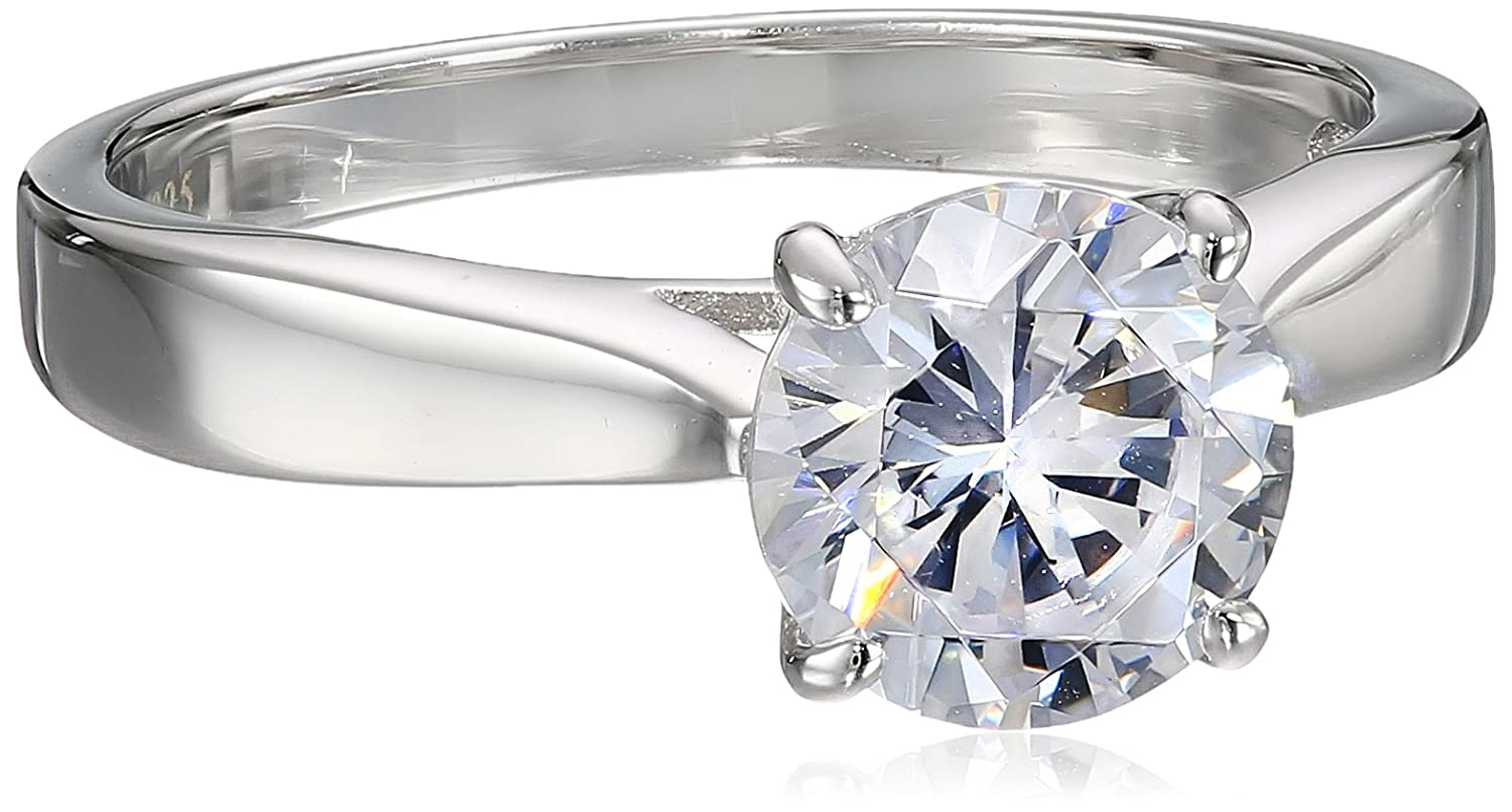 Charles Winston, Sterling Silver, Cubic Zirconia, 8.0mm Round CZ Ring, 2.00 ct. tw. Size 6 Charles J. Winston Inc. RG4900v1-6