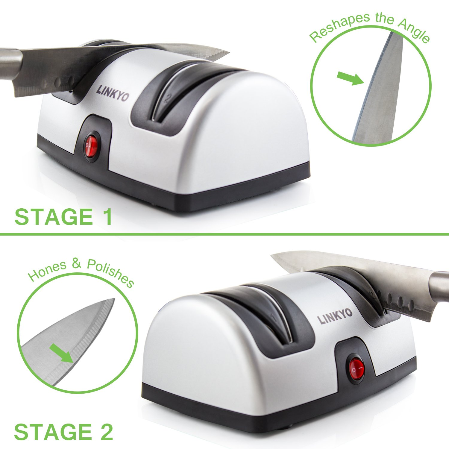 LINKYO Electric Knife Sharpener, Kitchen Knives Sharpening System by LINKYO (Image #5)