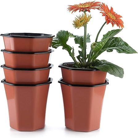 4 x 5 litri per piante vasi di plastica resistente nero vaso di fiori L LT di alta qualità