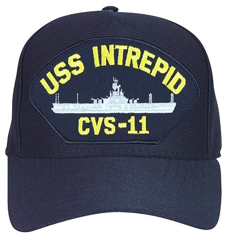 a898e217 MilitaryBest USS Intrepid CVS-11 Ships Ball Cap with Custom Back Text