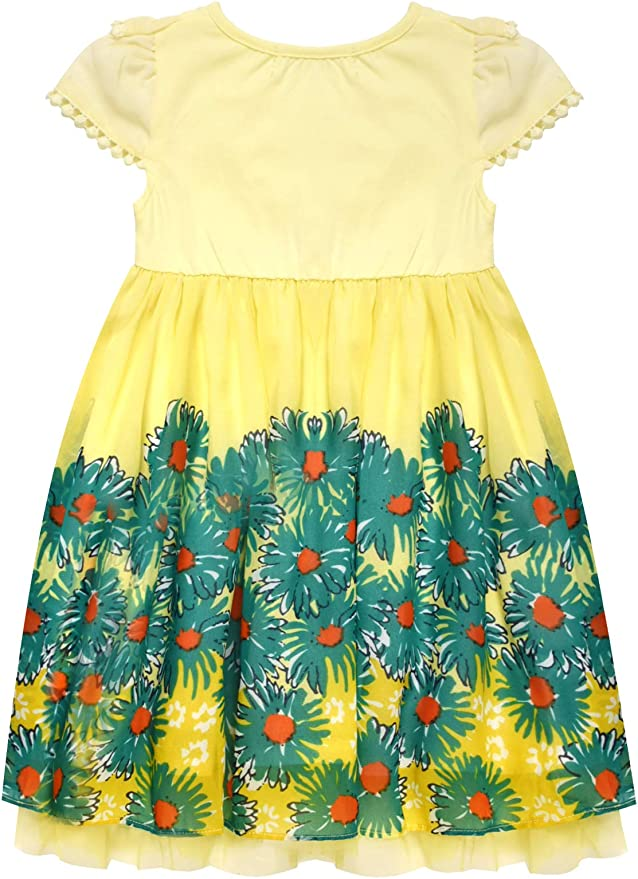 BONNY BILLY Baby Girl Sleeveless Chiffon Pleated Skirt Casual Summer Dress for Toddlers