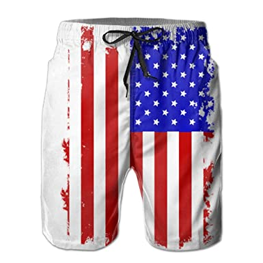 American Flag Style And Fashion Board Shorts Home Shorts With Pockets 79ac77e3d106
