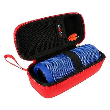 6665f1e8291 Buy Khanka Hardshell EVA Storage Carrying Travel Case Bag for JBL Flip 1   2    3 Splashproof Portable Wireless Bluetooth Speaker (red) Online at Low  Prices ...