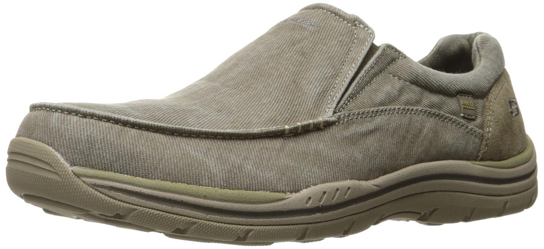 Skechers USA Hommes's Expected Avillo Slip-on Loafer, Khaki, 9.5 2W US