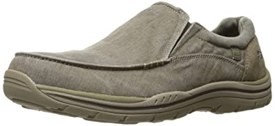 classic styles reputable site free shipping Skechers Men's Expected - Avillo Navy Canvas Loafers and Mocassins