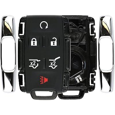 KeylessOption Keyless Remote Car Key Fob Case Shell Button Pad Cover for GMC Chevy M3N-32337100: Automotive