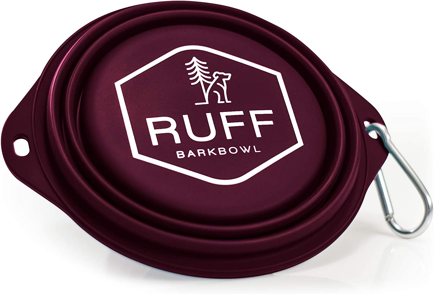 Ruff Products BarkBowl (Maroon, 800ml) - Collapsible Dog Bowl Premium Quality, Platinum-Cured Food Grade Silicone, No Plastic Rim, Food Safe, Large Travel Bowl