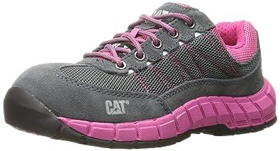 52994523053 Caterpillar Women's Exact Steel Toe / Castlerock/Pink Work Shoe