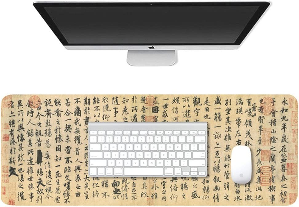 Colour 3 LL-COEUR Large Size Mouse Pad Gaming Play Mat Non-slip Office Laptop Table Mat 800x300x3mm