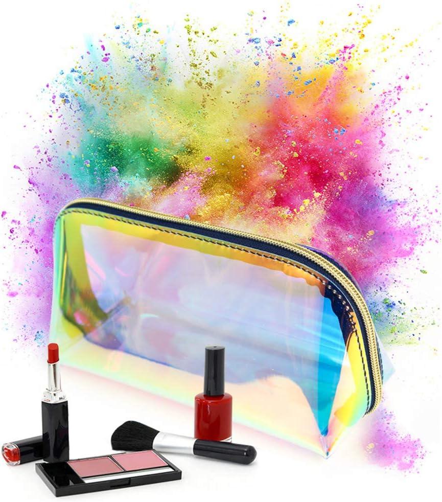 Bolsa de cosm/éticos Mini Laser PVC transparente bolsa port/átil cosm/éticos viaje neceser impermeable estuche para ni/ñas mujeres ni/ños viajes vacaciones hogar