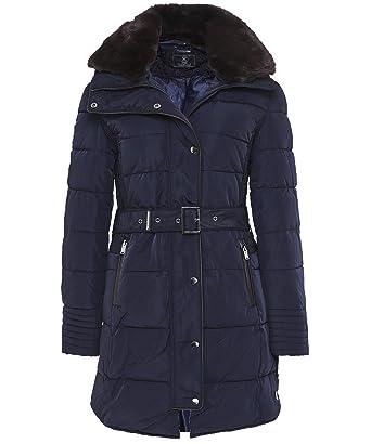 Rino and Pelle Women s Blush Long Puffa Jacket Navy  Amazon.co.uk ... a94e73799ea