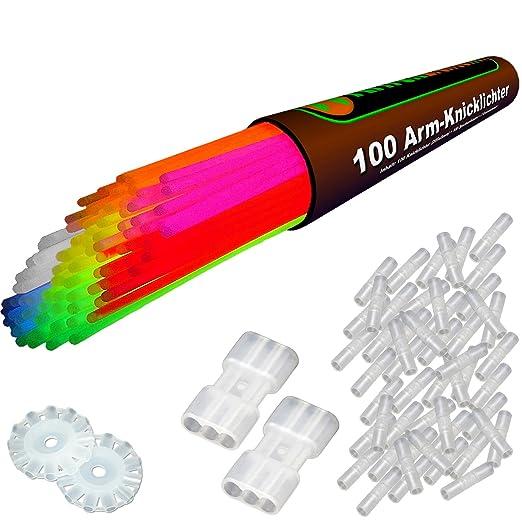 """460 opinioni per 100 Lightstick 7 colori Punteggio del test 1,4 """"MOLTO BUONO"""", Set completo"""