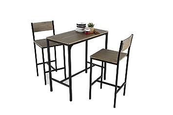 Kit Closet Coimbra Set Tisch 2 Barhocker Amazon De Küche