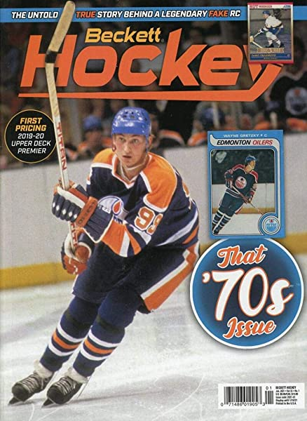 Amazon Com Current Beckett Hockey Monthly Price Guide Card Magazine Feb 2021 Next Million Rookie Card Oilers Wayne Gretzky Sports Collectibles