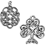 SC7506 Celtic Knot Pendant Charm Antique Silver Tone Large Size